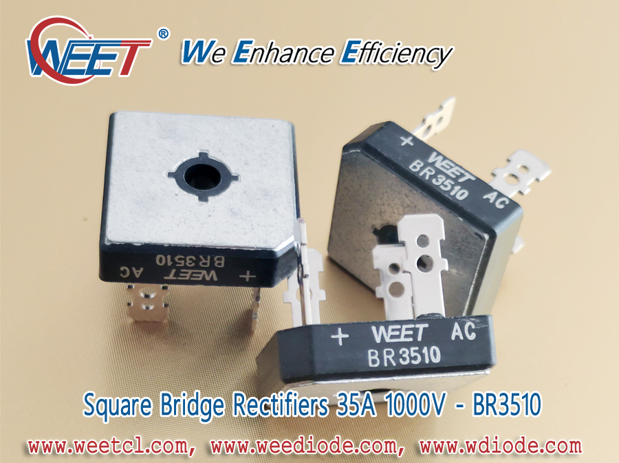 WEET Transformer Bridge Rectifier 35A 1000V BR3510 Specifications and Other Related BR Package Diode